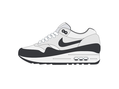 Sneaker Illustration icon concept flat shoes air max nike illustration sneaker