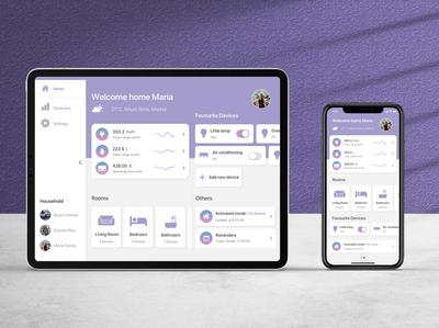 Daily UI 21: Home Monitoring Dashboard