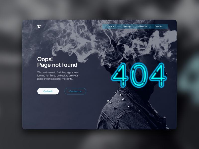 Dailu UI Challenge #008 webdesign uidesign 404 error page error 404 daily ui daily ui challenge ui design