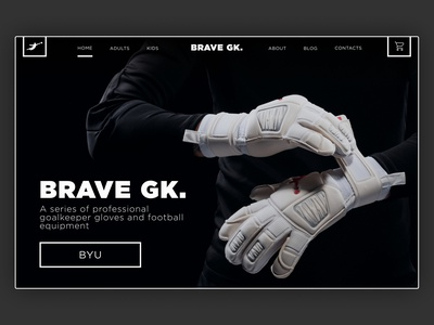 Sports Equipment - Home Page Concept homepage design ui web design