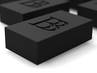 Mark on Black Brick 3D black brick brand branding logo