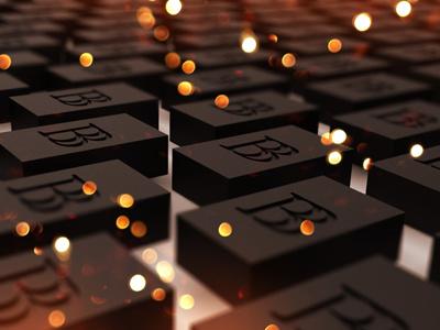 Mark on Black Brick 3D + Light black brick brand branding logo