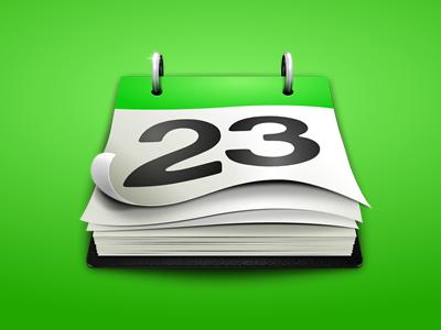 QuickCal Desktop Icon icon desktop calendar green paper