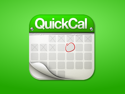 QuickCal iPhone Icon calendar iphone green icon paper