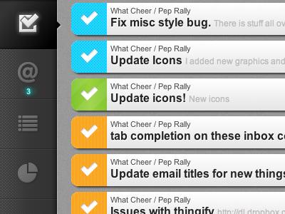 Pep Rally - New Navigation navigation icons glow