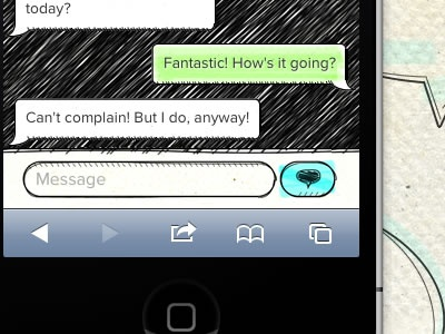 Small Talk sketchy big-omaha web-app message hand-drawn