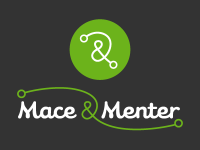 Identity for Mace & Menter identities logos