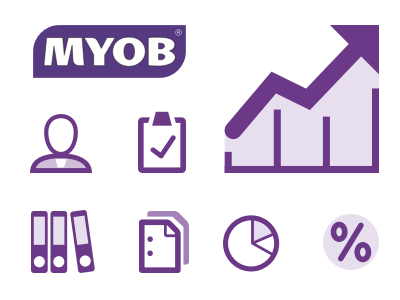 MYOB Client Portal Iconset business accounting icons
