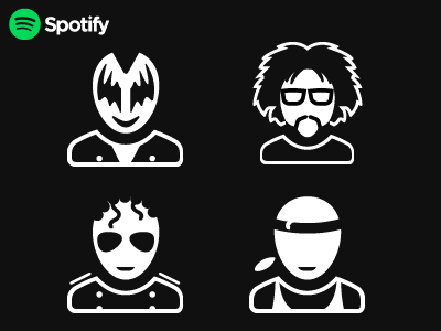 Spotify Busticons busts music spotify icons