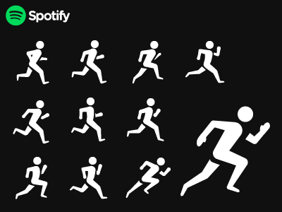 Spotify Running Icon fitness running music spotify icons