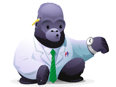 Silverback App II - 'Waiting' illustration characters icons