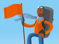 Alpinist Illustration for DuckDuckGo