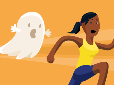 Ghost chase for DuckDuckGo illustration