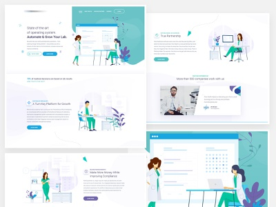Operating system for laboratories illustrations website medical laboratory