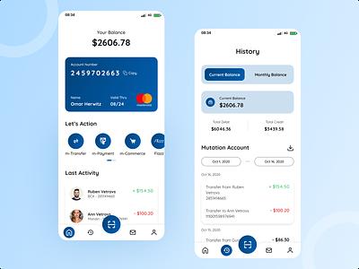 Mobile Banking App ux uiux ui design ui mobile banking bank app bank mobile app design app