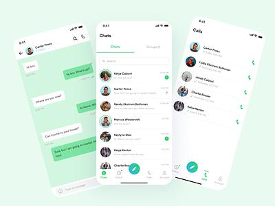 Messenger App uidesign app design mobile app messenger app messenger ui ux uiux