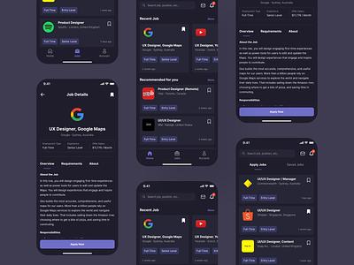 Job Search App uxdesign job search job mobile app ux uidesign app uiux ui design