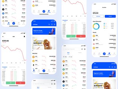 Coinbase App Redesign uxdesign mobile app ux uidesign app uiux ui design crypto app crypto coinbase app coinbase