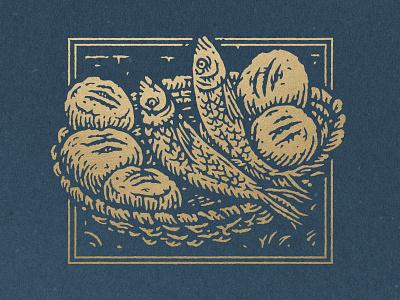Loaves & Fish bookcover illustration bibledesign bible
