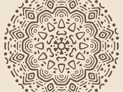 Radial Pattern #1 vector tribal radial pattern minimal mayan kaleidoscope illustration flat doodle concentric ancient