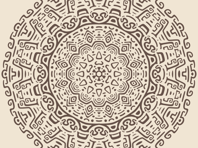 Radial Pattern #2 vector tribal radial pattern minimal mayan kaleidoscope illustration flat doodle concentric ancient