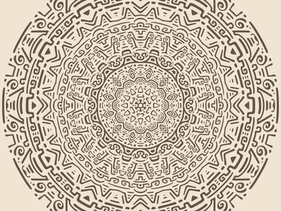 Radial Pattern #3 vector tribal radial pattern minimal mayan kaleidoscope illustration flat doodle concentric ancient