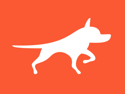 Beathound Logo icon orange flat vector minimal hunting hunt beast hound dog mark logo