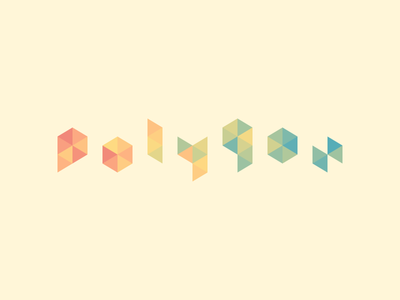 Polygon Logo triangle mosaic polygon low poly simple minimal typeface font typography logo vector flat