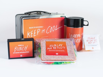 New Business | Blue Bunny | Direct Mail packaging design packaging lunchbox design agency website print branding print design brand design typography orange photography