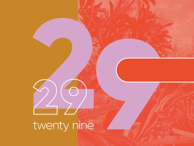 Lawrence & Schiller | Leap Year number february 29 drawing photoshop illustrator retro grain brush typography design handwriting vector texture photography lettering illustration