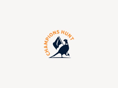 Sanford International | Champions Hunt Logo branding typography bird logo vector illustration hunting hat badge flag logo bird pheasant