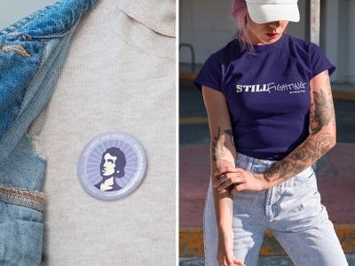 SD Women's Vote Centennial | Her Vote. Her Voice. Collateral ui print design photography south dakota suffrage flower icon vector brand design branding typography print illustration purple logo merch
