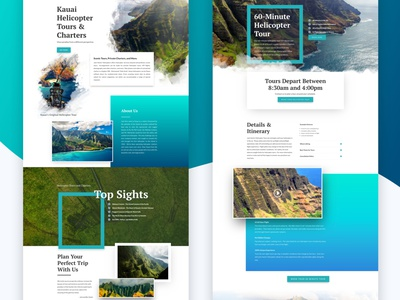 Hawaii Helicopter Tours Website website design wordpress helicopter hawaii tours tourism design web design website