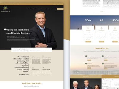 Financial Advisor Website wordpress finance financial advisor web design website