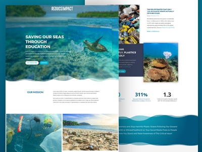 Ocean Conservation Landing Page waves website conservation ocean landing page non-profit