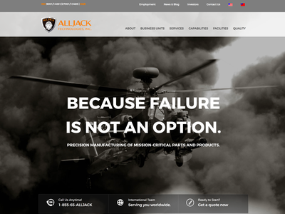 Defense Manufacturing Website manufacturing defense web design website