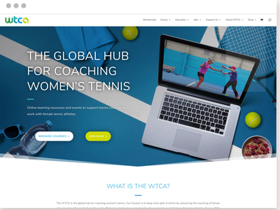 Tennis Coaching E-learning Website Redesign website web design membership sports tennis e-learning courses