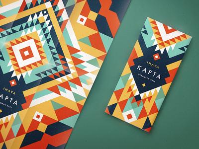 INAYA Festival identity pattern map yoga eco psy ethno ornament hippie festival tribal identity