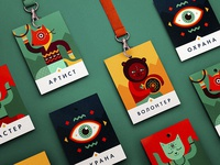 INAYA Festival identity details ethno festival hippie dance drum yoga cat eye fox bear ornament character