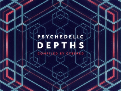 Album cover psychedelic depth portal tribal hippie goa neon trance fractal music cover psy