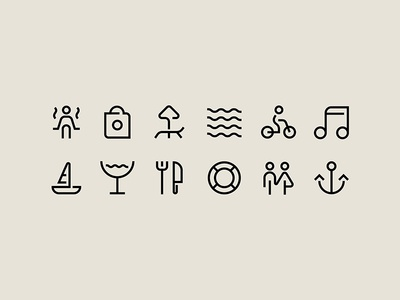 Icons for Spotlight Festival identity
