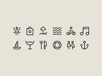 Icons for Spotlight Festival identity