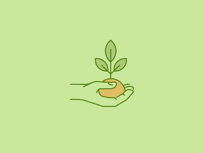 Icon for Annual Report human man earth eco love sprout leaves tree arm nature icon