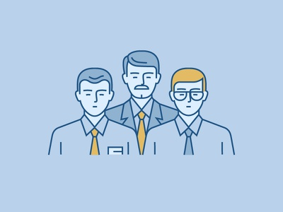 Icon for Annual Report manager business office companion serious partner illustration icon