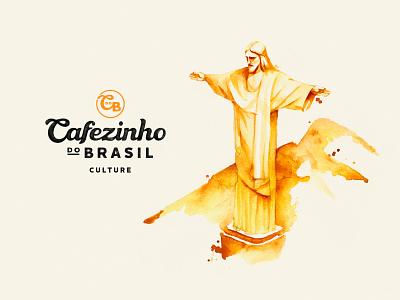 Cofezinho do Brazil - illustration cafe brasilia logo identity illustration culture watercolor coffee
