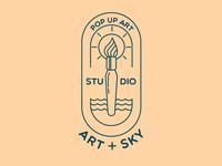 Line Art Logo for Pop-up Art Studio