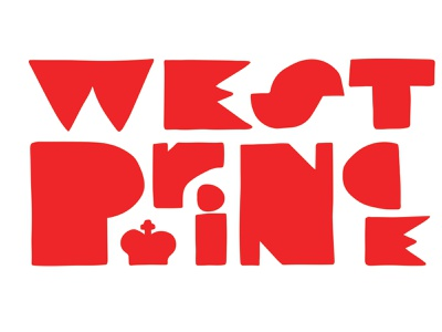 West Prince Logo minimal flat design vector branding logo
