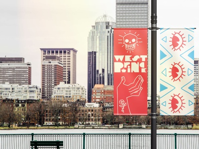 West Prince Banners mockup design branding illustration