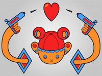 Shoot the heart illustration