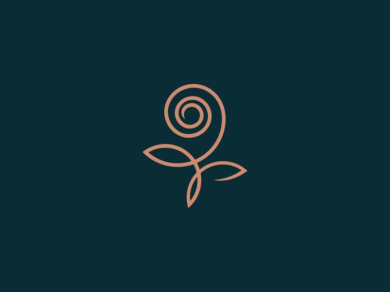 Rose Logomark logomark minimalist logo simple logo signet logo design logodesign line logo line art logo rose rose logo flower logo botanical nature logo design logo